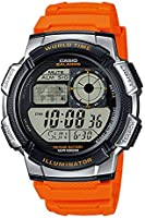 Casio Caballero Men's Grey Dial Resin Band Watch - AE-1000W-4BVEF, Quartz
