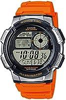 ساعة كاباليرو مينا رمادي وسوار راتنج للرجال من كاسيو - AE-1000W-4BVEF ، كوارتز