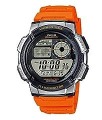 Idea Regalo - Casio Orologio Cronografo Digitale Uomo con Cinturino in Resina AE-1000W-4BVEF