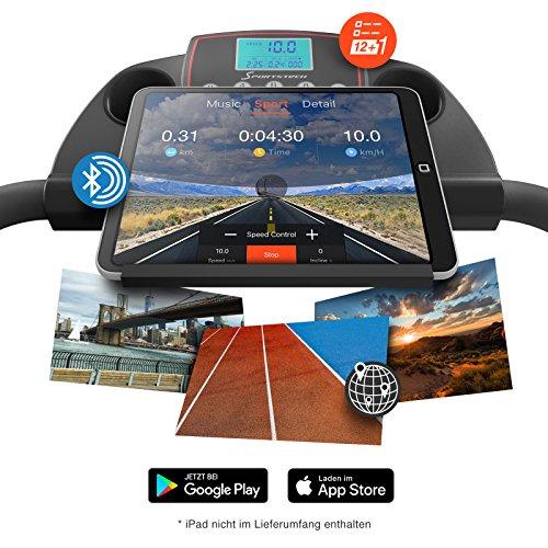 Sportstech F10 Laufband mit Smartphone App Steuerung – kompakt klappbar verstaubar Abbildung 3