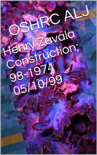 Henry Zavala Construction; 98-1974  05/10/99