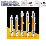 R7S COB LED-Leuchtmittel, Glasröhre, Ersatz für Halogenstrahler, 78 mm, 118 mm, AC 220 V, 230 V, 5 W, 9 W, 13 W energiesparend, warmweiß, 4.5W 78mm