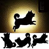 Lingkai Drahtloser Korridor Beleuchtung Sprachsteuerung mit Licht Wahrnehmung Wandleuchte für Wohnzimmer Schlafzimmer Badezimmer Korridor Balkon Treppen (Hund rennender Schatten)