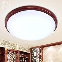 BBSLT Tondo plafoniera cinese tinta legno camera da letto lampade led scale di cucina ristorante balcone corridoio, luci del portico 435 * 90mm