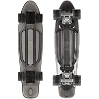 STAR-SKATEBOARDS® Vintage Cruiser Board ★ Edizione 22ª Trasparente Categoria ★ Diabolico Nero
