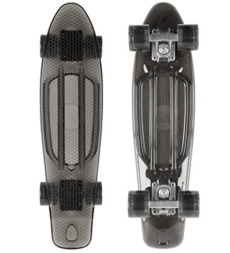 STAR-SKATEBOARDS® Vintage Cruiser Board ★ 22er Trendy Transparent Edition ★ Teuflisch Schwarz