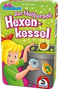 Schmidt Spiele- Bibi Blocksberg - Sillón de Bruja con Juego (en Caja de Metal), Color carbón (51436)