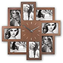 ZEP S.r.l pc468Padova Galleria cornice portafoto con orologio, Legno, Marrone, 52, 3cm