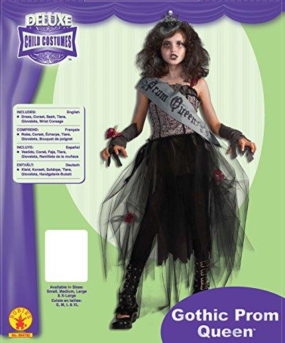 Imagen de rubie 's–disfraz de oficial gótico reina del baile de la niña–xl, multicolor alternativa