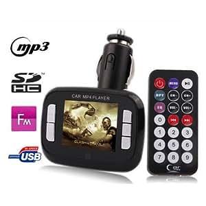 Yonis - Transmetteur Fm 1,8'' Lecteur Mp3 Mp4 Usb Sd Et Micro Sd Noir