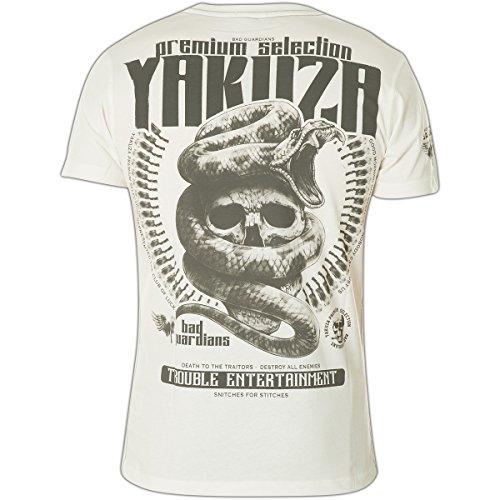 Yakuza Premium T-Shirt YPS-2201 Weiß Weiß