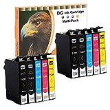 10 Druckerpatronen (nicht original) für Epson Stylus Office BX525 B42 BX305 BX305 BX305 BX320 BX535 BX620 BX625 BX630 BX635 BX925 BX935 SX620 SX230 SX235 SX420 SX425 SX430 SX435 SX438 SX440 SX445 SX525 SX535 Workforce WF 525 630 3010 3520 3530 3540 7015