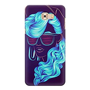 Printed back cover for Samsung Galaxy C9 Pro by Motivatebox.Girl Painting design, Polycarbonate Hard case with premium quality and matte finish