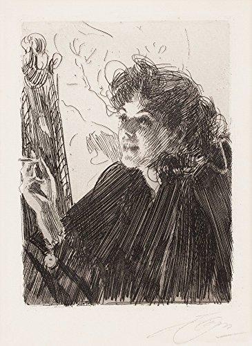 Das Museum Outlet-Anders Zorn-Zigarette Smoker II (Ätzen) 1891-Leinwand (61x 81,3cm)