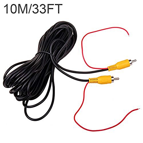 Phono Verlängerung Kable für Auto Einparkhilfe Rückfahrkamera LKW Monitor Kamera CCTV 30FT Anschlusskabel mit Rot Erfassungsdraht Trigger ()