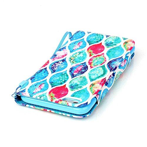 Nancen Apple iphone 6 / 6S (4,7 Zoll) Leder Hülle / Case. Verbesserte Version Stabil Rechteck Magnetverschluss Design - PU Flip-Case Lederhülle Handyhülle Brieftasche Tasche Standfunktion Lanyard Foli Blatt
