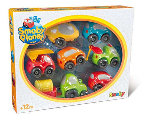 Smoby - 120217 - Vroom Planet - Coffret 7 Véhicules