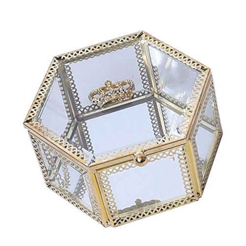 P Prettyia Vintage-Schmuck-Schaufenster Betrachtungsarmbänder, Ohrringe, Halsketten für Hochzeit Braut, Freundin (Royal Schmuck-display Crown)