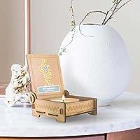 CANDLE in the BOX Sternenkinder | Trauerkerze in Holzbox mit Spruch | personalisiert mit Namen | Sterne blau | Gedenkkerze | Andenken