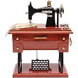 Generic Vintage Mini Treadle Sewing Machine Mechanical Music Box