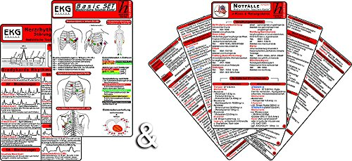 EKG Basic + Notfälle kompakt (2in1 Karten-Set)