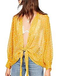 63af328c7085 Amazon.es: poncho mujer - Amarillo / Blusas y camisas / Camisetas ...