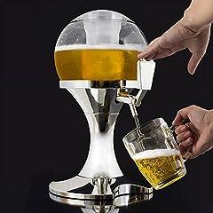 Idea Regalo - Simpatico Spinnatore della birra con compartimento per il ghiaccio, bevi tanto e in compagnia
