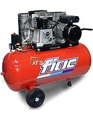 Compresor de aire 100 Lt trifásico 380 V Fiac AB 100-360 T transmisión correa 2 Kw