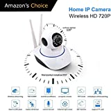 Piqancy WiFi Home Security Ip Camera Long Range 360° Move Wireless (2, Dual Antenna)