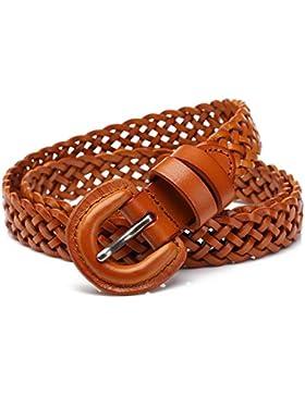 SILIU*La primera capa de la Sra. Correa de cuero elegante grabado artículo agujas de tejer las pinzas de la cintura...