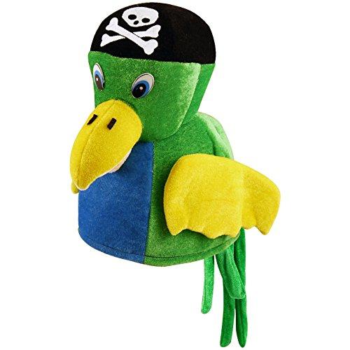 Piraten Vogel Kostüm - Hut Papagei Piratenhut Vogel Pirat Tier