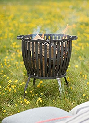 Garden Trading Barrington Fire Pit Small - Raw Metal by Garden Trading