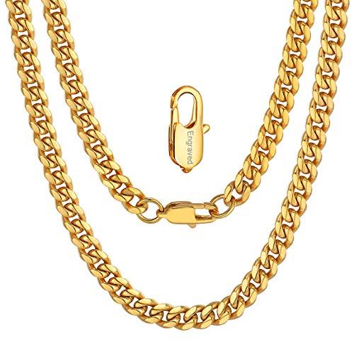 ChainsPro Personalisierte Geschenke, Herrenkette Männer Kette Halskette Poliert Gold Silber Silbergrau Weizenkette Herrschsüchtig Rau Punk Rock für Herren Männer