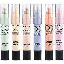 MagiDeal 6 Piezas Palo de Maquillaje Concealer Highlight Contorno Corrector Crema Cara Cosmética