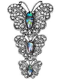 acd1f5818029 Gysad Broches Forma de mariposa Alfiler broche Exquisito y encantador  Broches de bisuteria baratos Estilo retro Broches para ropa mujer…
