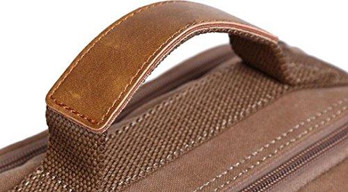 Segeltuchbeutel Kurierbeutelhandtaschenkursteilnehmer Einfache Kleine Paketgeldbeutelmappe Wild Brown