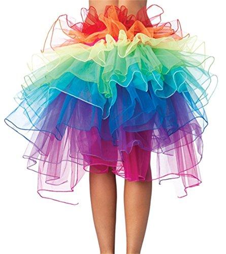 Petticoat Tails (DYAPP Regenbogen-Stil Damen Rock Tutu Kleid Petticoat Unterrock fr Party Cosplay Festival Karneval)
