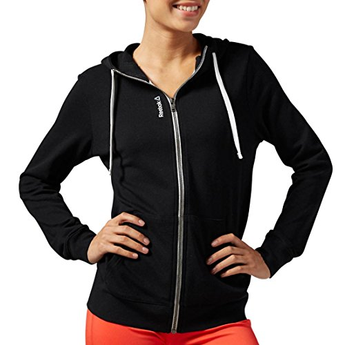 Reebok donna Elements ft Full zip con cappuccio Black
