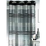 Homemaison HM690889175 Vorhang, gestreift, Organza, Grau