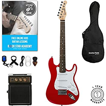 rocket 3 4 size beginner electric guitar premium pack with amp musical instruments. Black Bedroom Furniture Sets. Home Design Ideas