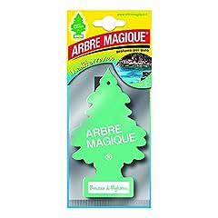 Idea Regalo - Arbre Magique Mono, Deodorante Auto, Fragranza Brezza di Mykonos, Profumazione Prolungata fino a 7 Settimane