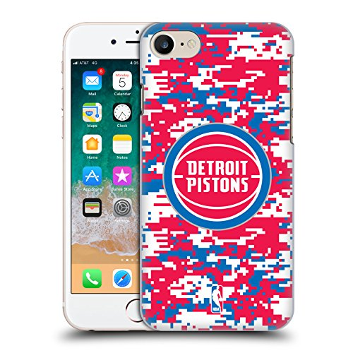 Ufficiale NBA Camouflage Digitale Detroit Pistons Cover Retro Rigida per Apple iPhone 6 Plus / 6s Plus Camouflage Digitale