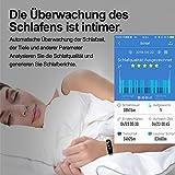 Juboury Fitness Armband mit Pulsmesser Blutdruckmesser, Fitness Tracker Smartwatch Wasserdicht IP68 Aktivitätstracker Schrittzähler Uhr Damen Herren Farbbildschirm SMS für iPhone Android Handy - 3