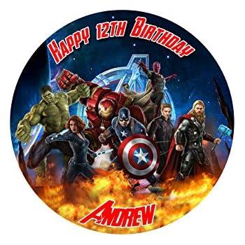 Marvel Superhero Captain America Cake Topper 7 5 inch Personalised
