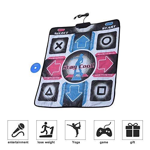 Lazmin USB Dance Mat Pad, elektronisches Musical Playmat Spielzeug PC USB-Tanzmatte, gepolsterte Matte für EIN Arcade-Gefühl