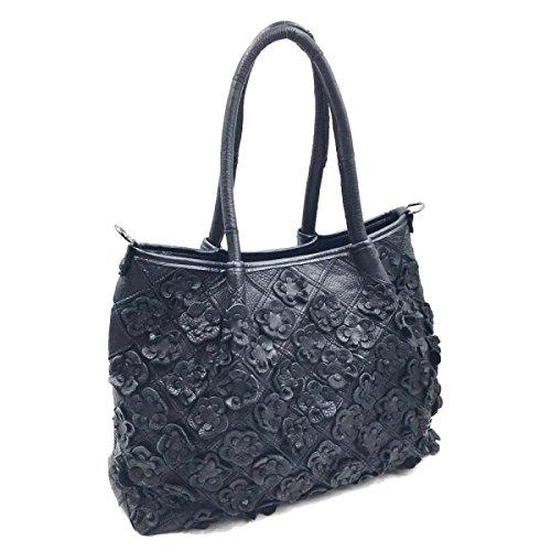 I Fiori Femminili Di Borsa Colori Misti Spalla Messenger Bag Black