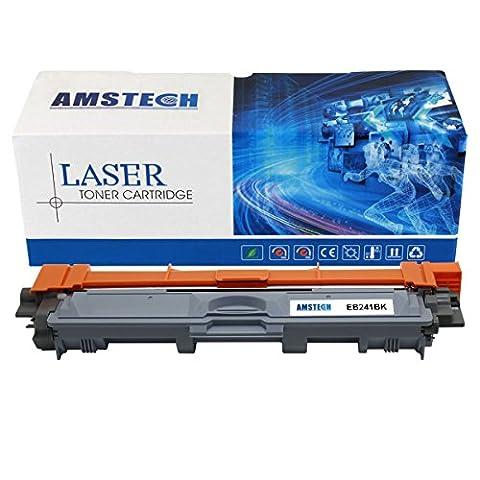 Amstech compatibile toner Cartouche de toner compatibile pour Brother TN-241BK TN241BK Rendement Standard , 2500 Feuilles, Noir