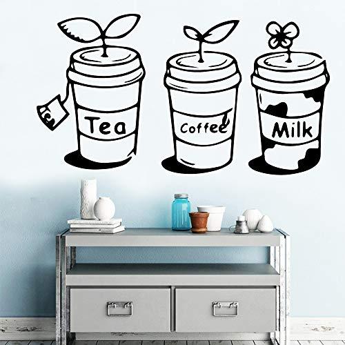 wukongsun Tee Kaffee Milchgetränk Haus Dekoration Ornament Vinyl Aufkleber Küche Dekoration Wandbild 30cm x 54cm