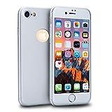 MajoCase Funda iPhone 6 6s 360 Grados Integral Para Ambas Caras + Protector de Pantalla de Vidrio Templado,[ 360 ° ] [ Plata ] Case/Cover/Carcasa iPhone 6 6s (iPhone 6 6s 4.7inch, Plata)