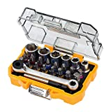 Dewalt 24 Piece High Performance Socket and Screwdriving Set (DT71516); long-living sockets; (24 pieces); with case